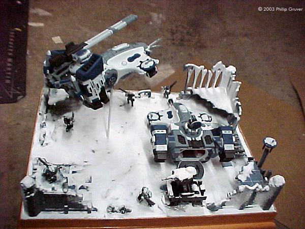 Starship Modeler A Warhammer 40k Tau Winter Encampment